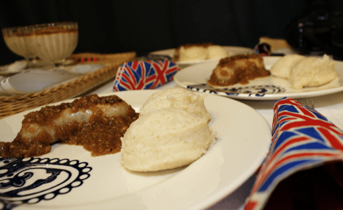 Oatmeal Bangers and Porridge Mash