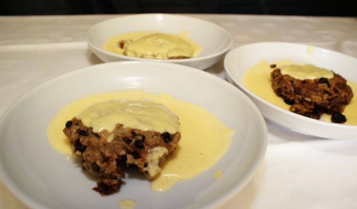 Clootie Porridge Dumpling with Custard