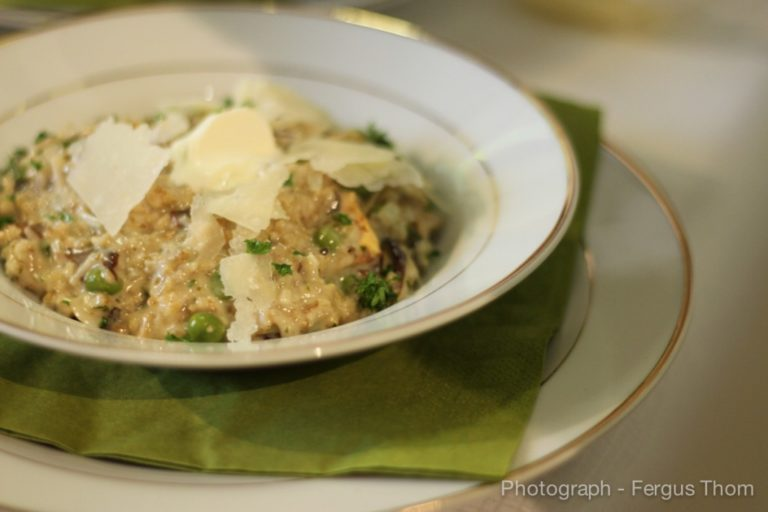 Pinhead Risotto with Lemon and Thyme and Parmesan